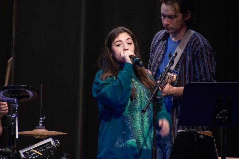 Girl Singing at Sandy Springs Music Recital