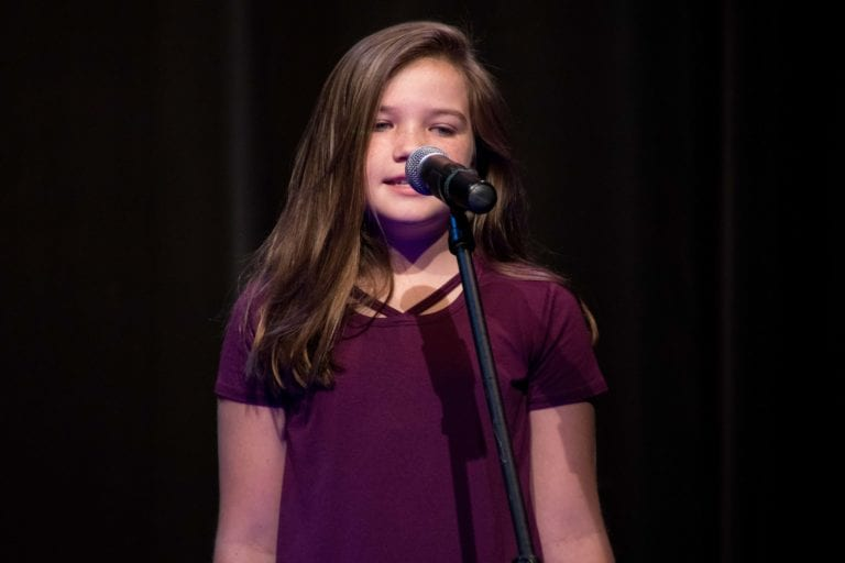 Girl Singing at Sandy Springs Music Recital