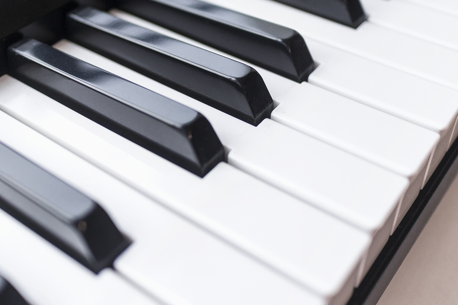 Close Up Photo Of Keyboard Of Piano Or Electronic Digital Midi