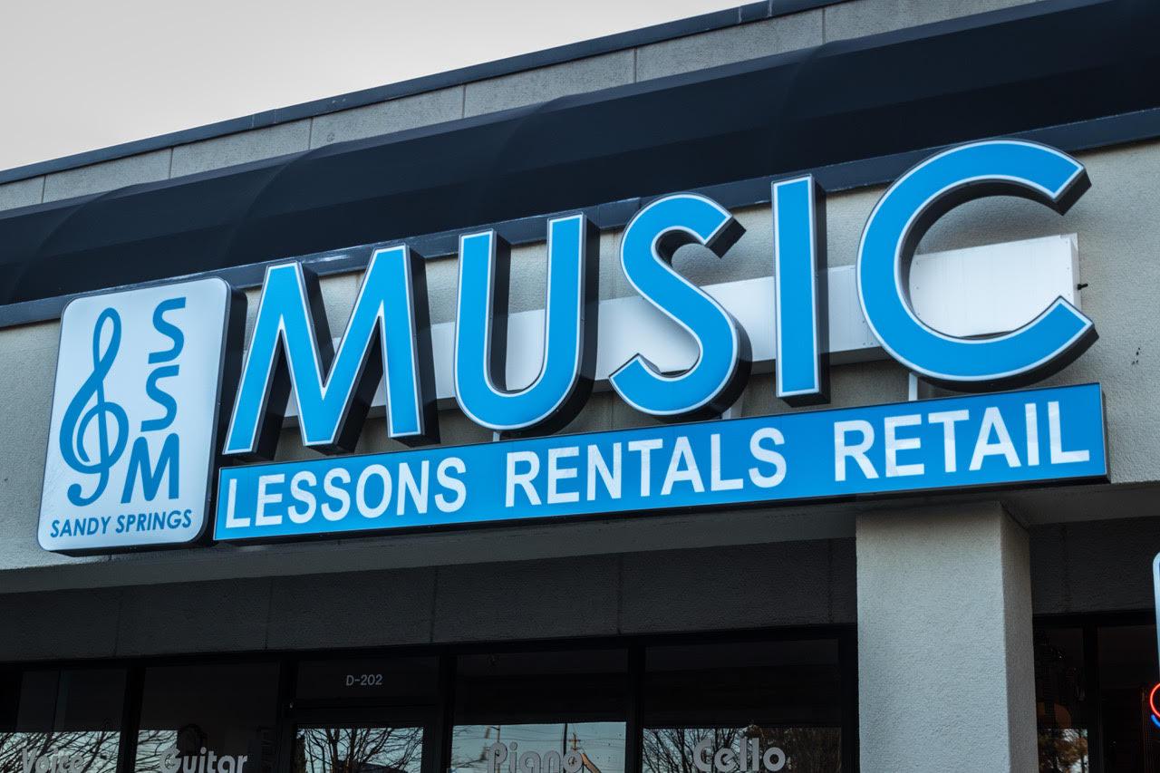 Sandy Springs Music sign